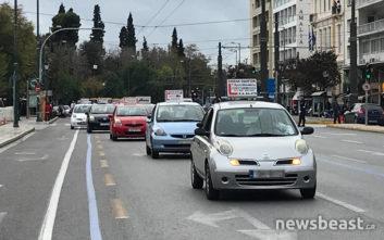 Διαμαρτυρία των δασκάλων οδήγησης στην Αθήνα