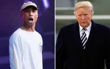 Έξαλλος με τον Τραμπ ο τραγουδιστής Pharrell Williams