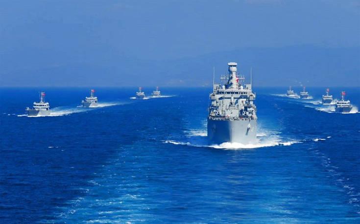 O αποβατικός στόλος της Τουρκίας βγήκε στο Αιγαίο