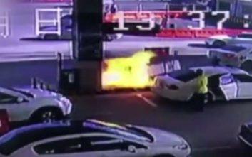 Οδηγός έφυγε από βενζινάδικο παίρνοντας μαζί και την αντλία καυσίμων και ακολούθησε χάος