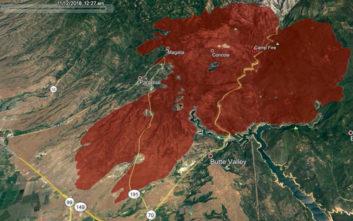 Παρόμοια με το Μάτι η φονική πυρκαγιά στην Καλιφόρνια