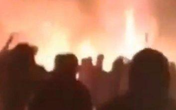 Βίντεο από το σκηνικό πολέμου μεταξύ οπαδών στην Αλεξάνδρας