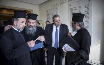 Καμμένος σε κληρικούς: Θα αποφασίσουμε ανάλογα με τις αποφάσεις της Ιεραρχίας