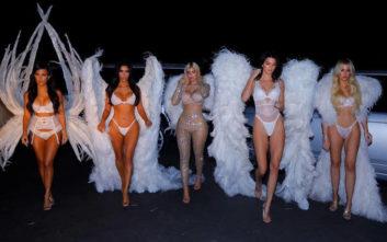 Οι αδελφές Καρντάσιαν ντύθηκαν αγγελάκια της Victoria's Secret και μοίρασαν… εγκεφαλικά