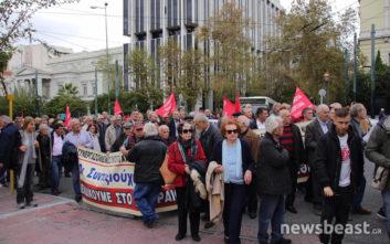 Ολοκληρώθηκε η κινητοποίηση των συνταξιούχων στην Αθήνα
