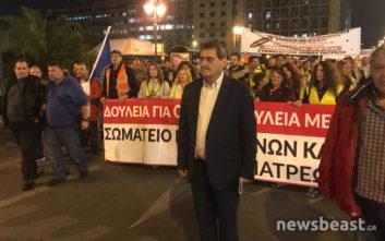 Κλειστή η Σταδίου λόγω πορείας στο κέντρο της Αθήνας