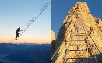 Η «ουράνια σκάλα» της Αυστρίας που μόνο οι γενναίοι περνούν