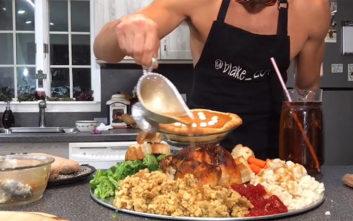 Έφτιαξε και καταβρόχθισε πιάτο… 10.000 θερμίδων