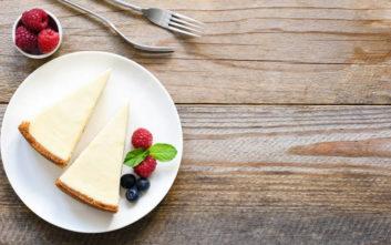 Cheesecake με λευκή σοκολάτα