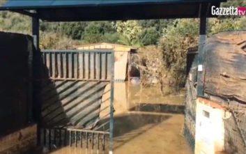 Λάσπη και νερά πλημμύρισαν το σπίτι της τραγικής οικογένειας στη Σικελία