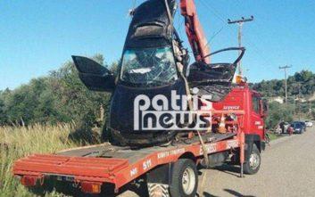 Αιματηρό τροχαίο στον Πύργο, οδηγός έχασε τον έλεγχο και έπεσε πάνω σε δέντρο
