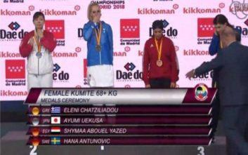 Παγκόσμια πρωταθλήτρια η Έλενα Χατζηλιάδου στο καράτε