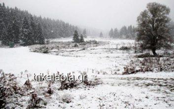 Τα πρώτα χιόνια στα ορεινά των Τρικάλων και της Ηπείρου
