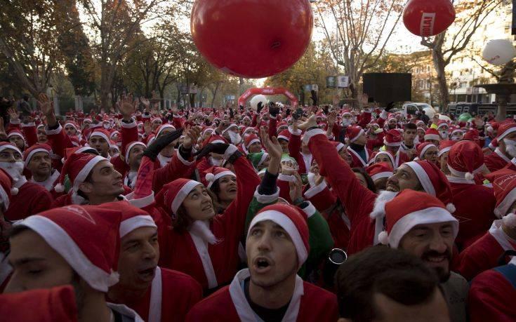 Χιλιάδες Άγιοι Βασίληδες στους δρόμους της Μαδρίτης