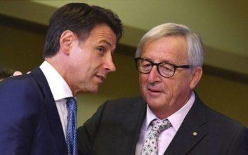 Εναλλακτικές για τον προϋπολογισμό της Ιταλίας συζήτησαν Γιούνκερ και Κόντε