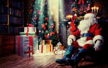 Να πώς περνά τη χρονιά του ο Άγιος Βασίλης σύμφωνα με τα παιδιά