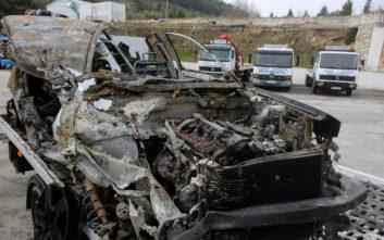 Εικόνες από το τροχαίο με τους τρεις νεκρούς στην Εγνατία οδό