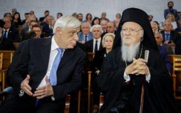 Παυλόπουλος και Βαρθολομαίος αντάλλαξαν χριστουγεννιάτικες ευχές