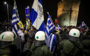 Άλλαξαν δρόμο οι διαδηλωτές στη Θεσσαλονίκη μετά το μπλόκο των ΜΑΤ