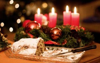 Χριστουγεννιάτικο κέικ στόλεν