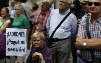 Στους δρόμους και οι συνταξιούχοι της Ισπανίας