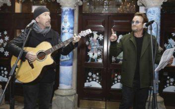 Σε συναυλία για την ενίσχυση των αστέγων συμμετείχαν οι U2