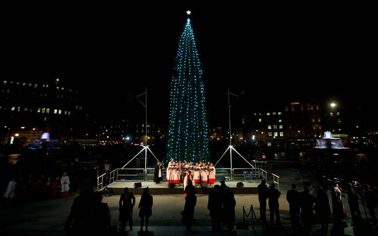 Londons Christmas Tree In Trafalgar Square Is Donated Each Year By Which Country.Because The Christmas Tree Of London Is Donated By Norway