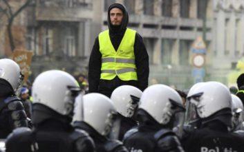 Τουλάχιστον 400 συλλήψεις στις Βρυξέλλες για τα «κίτρινα γιλέκα»