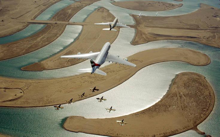 EK UAE carriers World Islands