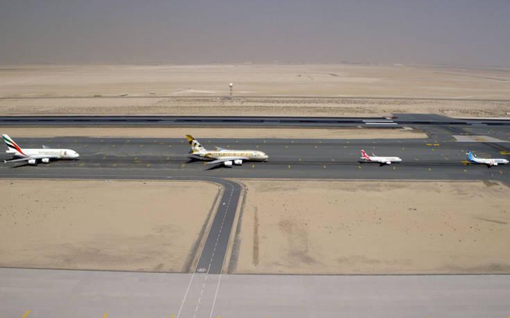 EK UAE carriers flypast