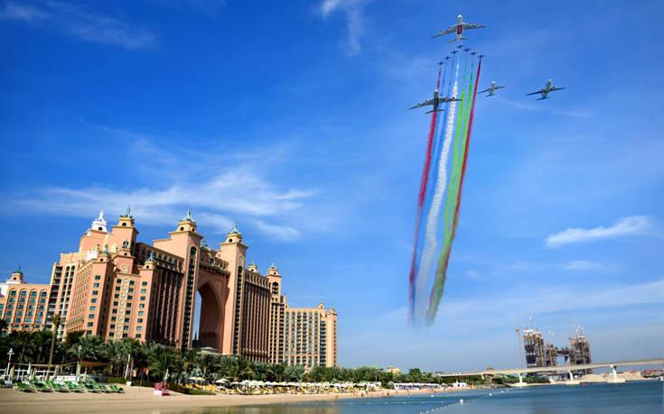 EK UAE carriers flypast 2