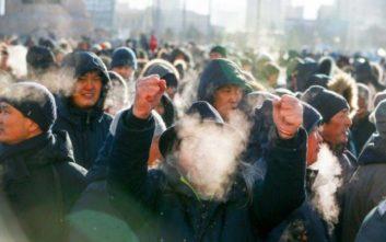 Διαδήλωση κατά της διαφθοράς στους -25 βαθμούς Κελσίου στη Μογγολία