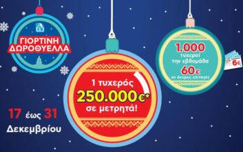 «Γιορτινή Δωροθύελλα» με super κλήρωση 250.000 ευρώ στα ΑΒ