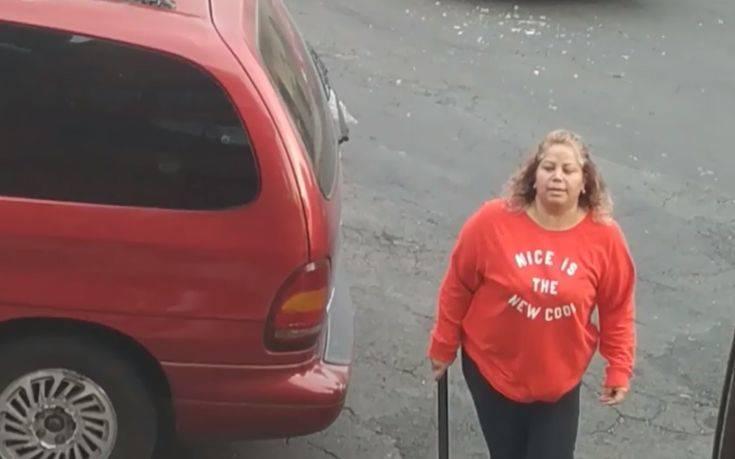 Έχασε την ψυχραιμία της μετά από ατύχημα και ξέφυγε