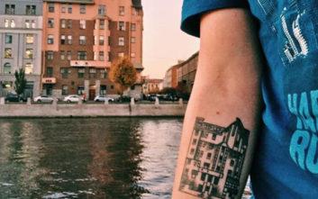 Ιδιαίτερα τατουάζ εμπνευσμένα από την αρχιτεκτονική