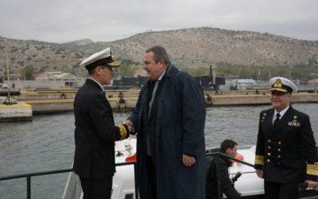 Καμμένος: Αποδείξατε στους Τούρκους τι σημαίνει ελληνικό Πολεμικό Ναυτικό
