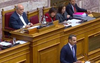 Μητσοτάκης: Καταψηφίζουμε τον προϋπολογισμό, καταψηφίζουμε τον ΣΥΡΙΖΑ και τους ΑΝΕΛ