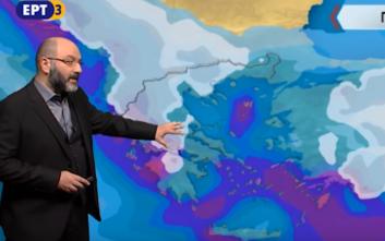 Σάκης Αρναούτογλου: Πάλη ψυχρών και θερμών μαζών πάνω από την Ελλάδα
