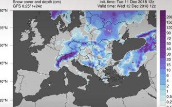 Πού θα έχει έντονες χιονοπτώσεις Πέμπτη και Παρασκευή