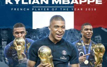 Κορυφαίος ποδοσφαιριστής στη Γαλλία ο Μπαπέ