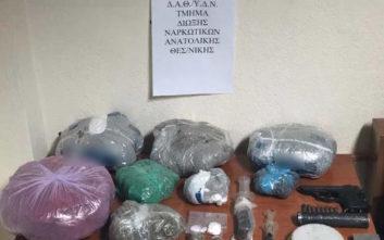 Τρεις συλλήψεις για κοκαΐνη και κάνναβη στη Θεσσαλονίκη