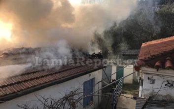 Πυρκαγιά σε μονοκατοικία στη Λαμία