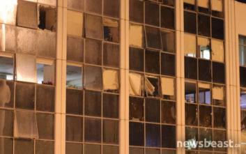 Δείτε φωτογραφίες από την έκρηξη στο ΣΚΑΪ