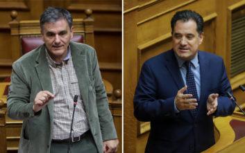 «Μετωπική» Γεωργιάδη και Τσακαλώτου στη Βουλή