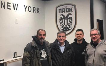 Ο Τσακαλώτος επισκέφθηκε τον σύνδεσμο του ΠΑΟΚ στη Νέα Υόρκη