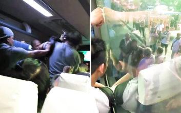 Στα χέρια πιάστηκαν επιβάτης λεωφορείου και εισπράκτορας