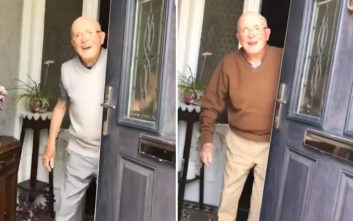 Η χαρά του παππού κάθε φορά που βλέπει στην πόρτα την εγγονή του