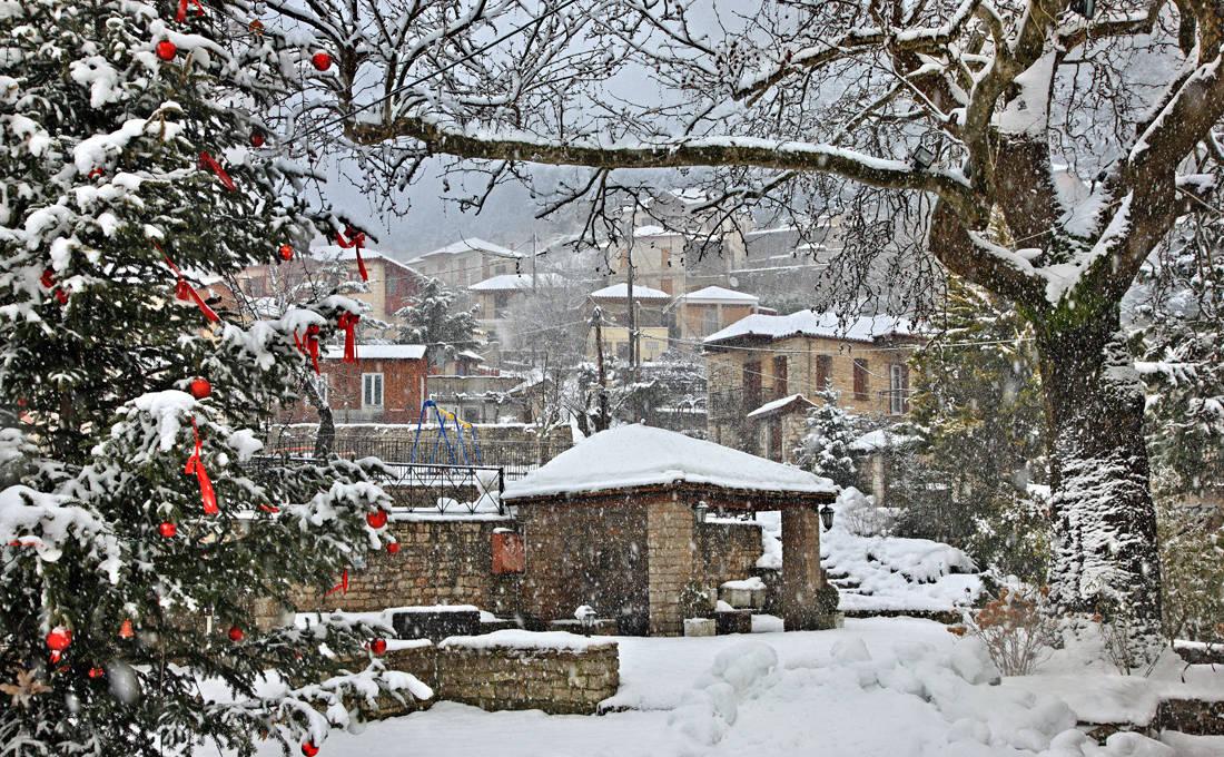 Πανέμορφα χωριά της Ελλάδας ντυμένα στα λευκά