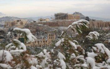 Ο «Τηλέμαχος» φέρνει χιόνια και στο κέντρο της Αθήνας