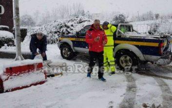 Νέα επέλαση του χιονιά στη Φθιώτιδα